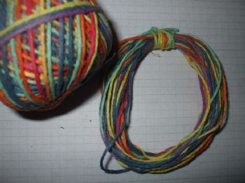 Varigated Rainbow Hemp Twine 1mm x 10mts